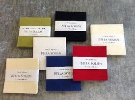"MODA BELLA SOLIDS CHARM PACKS - VARIOUS COLOURS 5"" SQUARES"